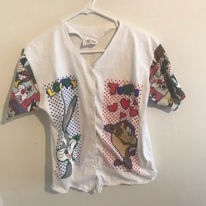 Looney Tunes button up shirt